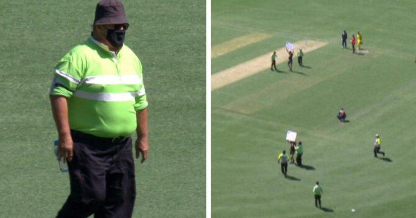 مهاجمان Pitch ، چه کسی هستند ، معترضین ، استرالیا در برابر هند ، اول ODI